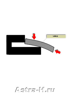 Схема установки фильтра
